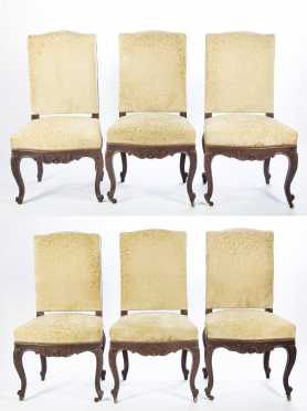 Six Louis XV Style Side Chairs