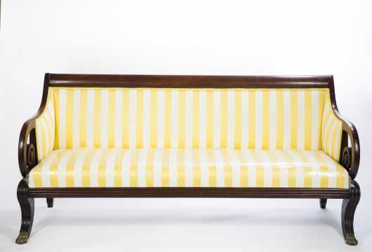 Empire Scrolled Arm Sofa