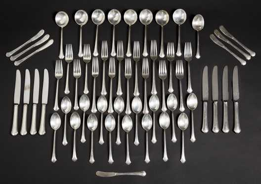 """""""Chippendale"""" Sterling Silver Set of Eight"""