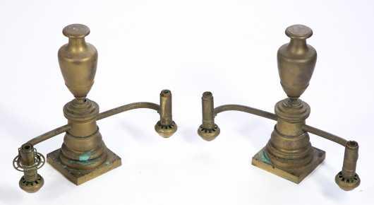 Pair of Argand Lamps