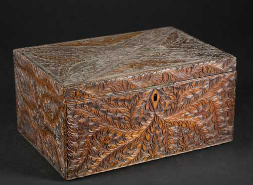 Highly Carved Document Box