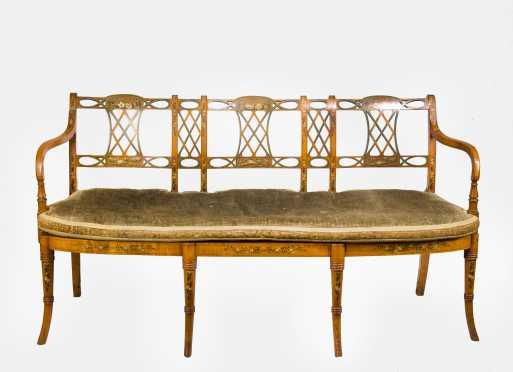 Regency Style Decorated Settee