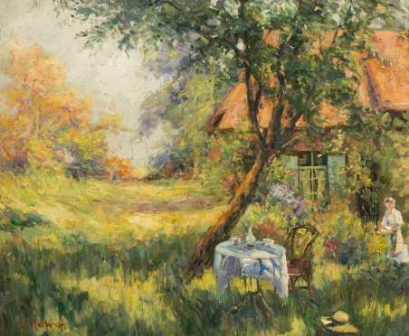 Lucie (Lucille) Hartrath, (1868 -1962), Illinois, MA., Oil on canvas