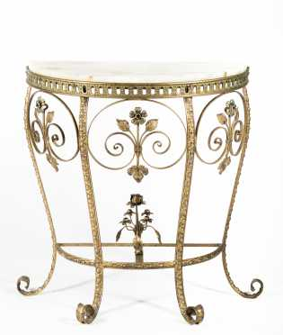 Agate Top Console Table