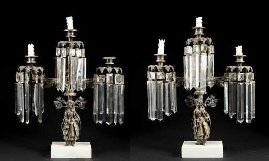 Pair of Figural Girondole Candlabra