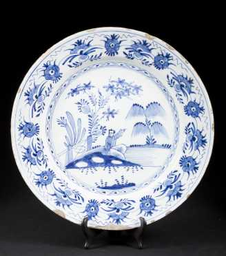 18thC Delft Deep Dish