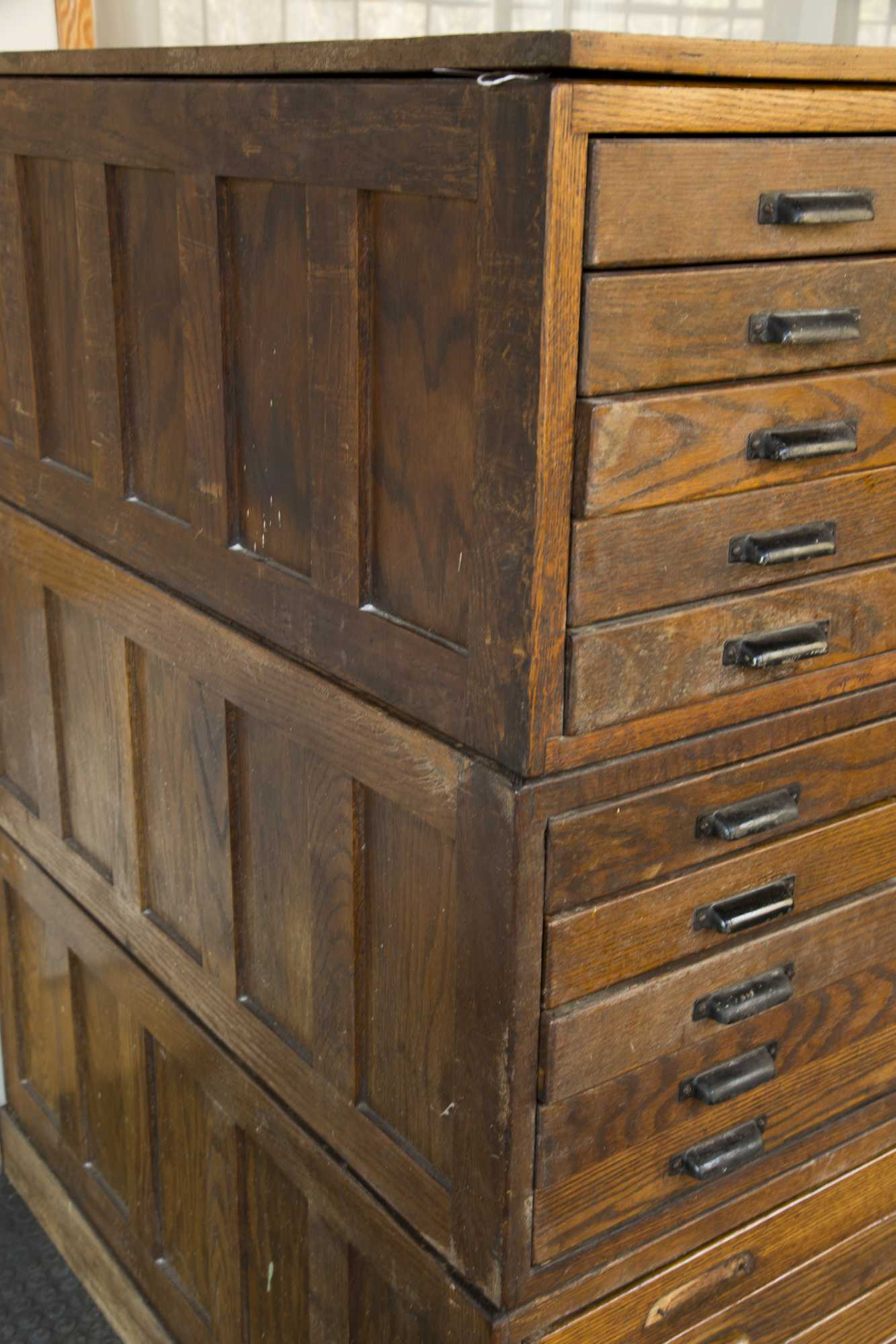 drawer store of map drawers chest