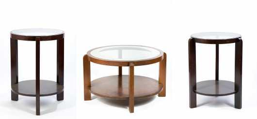 Three Deco Period Tables