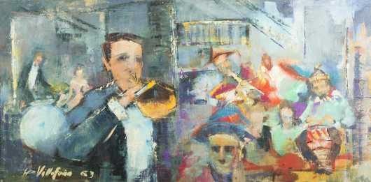 Leo Villafana, 20thC.,American, oil on canvas