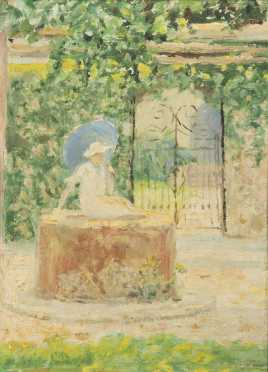 Unidentified Artist, oil on panel painting