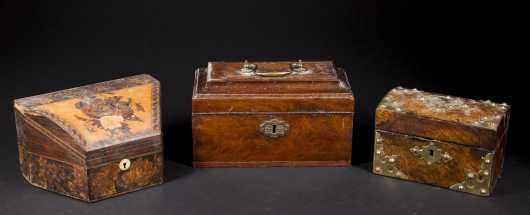 Three English 19thC. Boxes