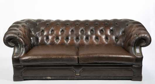 Chesterfield Style Leather Sofa
