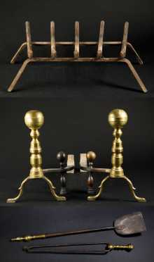 Pair of Ball Top Andirons