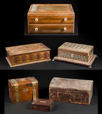 Six Boxes, various origins