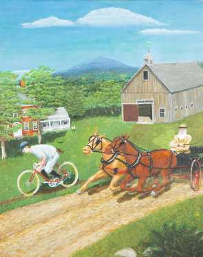 Rob Ring, Milford, NH, Oil on Artist Board Painting