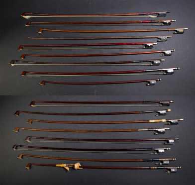 Lot of 18 Violin Bows