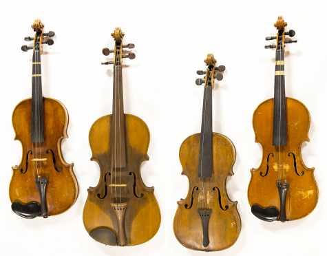 Lot of Four Violins