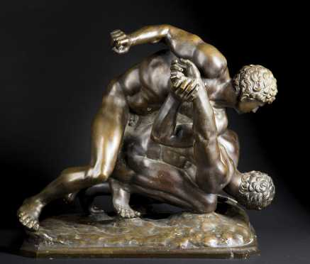 """Bronze Casting, """"The Wrestlers"""""""