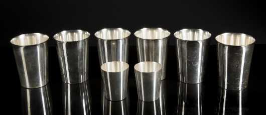 6 Sterling Silver Julip Cups