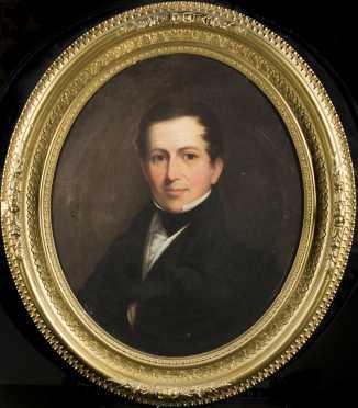 Oval Portrait of a Gentleman