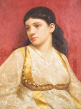 """Marcus Waterman (1834-1914), MA/ RI, Oil on Canvas Painting, of """"Yasemeen"""""""