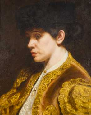 """Marcus Waterman, oil on canvas painting of a """"Spanish Toreador"""""""