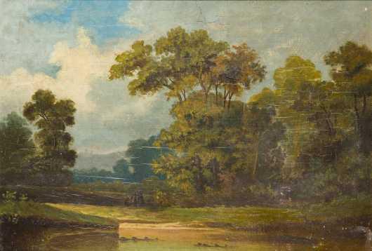 Joseph Olaf Olson (1894-1979), NY, CT, MN, oil on artist board