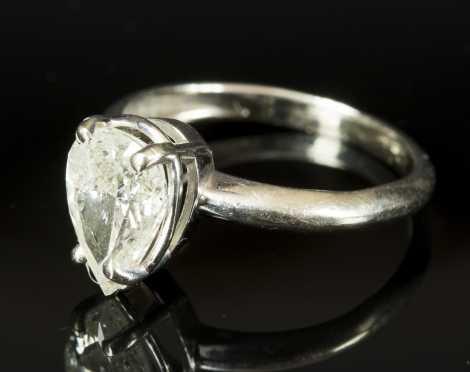 Pear Shaped Diamond Ladies Ring
