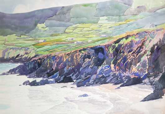 Richard Siegel (20thC), MA, watercolor painting