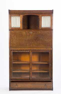 Globe Wernicke Stacking Oak Bookcase