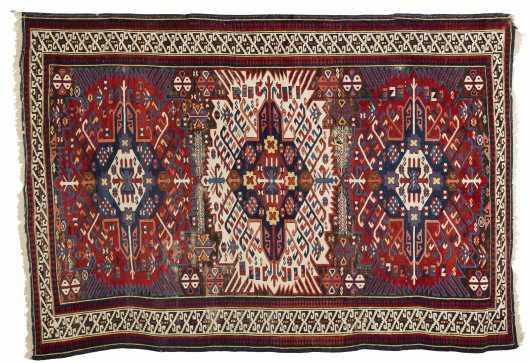 Shirvan Caucasian Scatter Rug