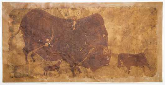 African Kalahari Bushman Painting
