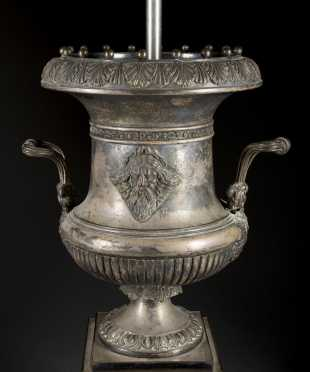 Sheffield Silver Wine Cooler/Lamp