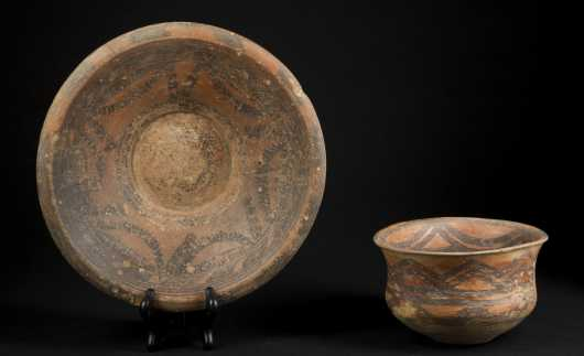 Two Chinese Neolithic Bowls