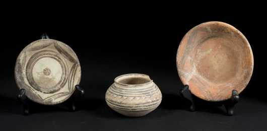 Three Chinese Neolithic Vessels