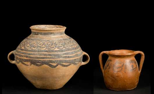 Chinese Neolithic Pot and Eased Vessel