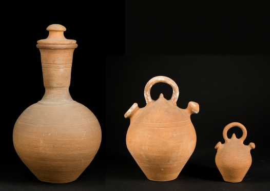 Three Chinese Clay Pots