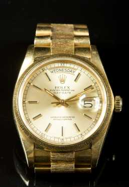 18K Yellow Gold Gentleman's Rolex Watch