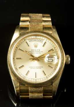 18K Yellow Gold Gentleman's Rolex Watch