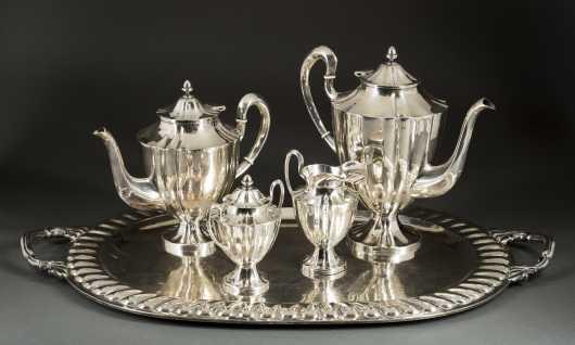 """Maciel"" Mexican Sterling Tea-Coffee Set"