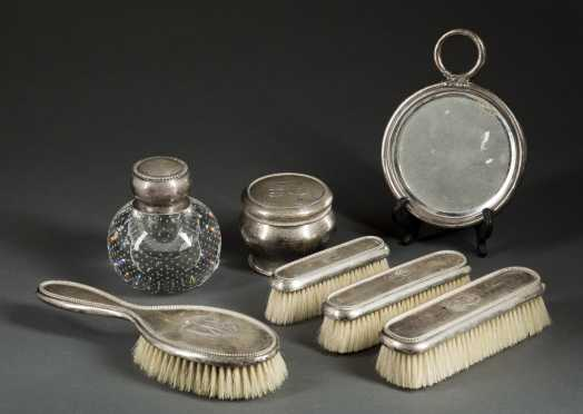 Seven Pierce Gorham Sterling Dresser Set