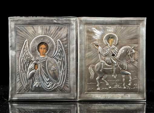 Two Late 19thC Russian Personal Icons