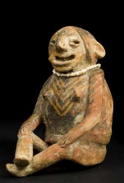 Ecuador Carchi Seated Female Figure