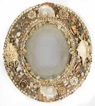 Sea Shell Decorated Mirror