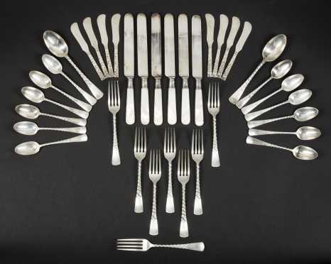 Mixed Sterling Silver Luncheon Set