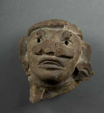 Pre-Columbian Zapotec Head Fragment