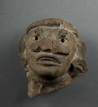 Pre-Columbian Zapotec Head Fragment