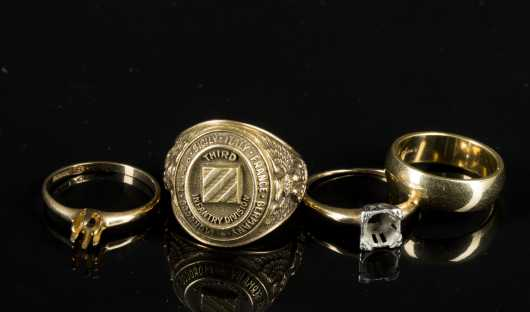 Four Yellow Gold Rings