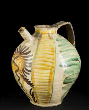 Italian Majolica Earthenware Pitchers