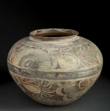 Floral Decorated Mexican Colonial OLLA